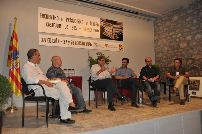 Juan José Escobar, Paco Audije, Enrique Serbeto, Pablo Zalba, Francesc Serra y ENrique Merino en la segunda mesa redonda